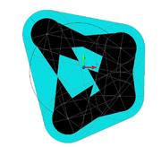 Контур сечения на заданной высоте в режиме 2D