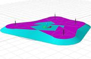 Контур сечения на заданной высоте в режиме 3D