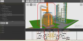 Интерактивная связь «технологическая схема - 3D-модель»
