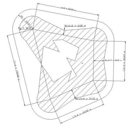 Зона защиты многократного стержневого молниеприемника. Методика РД 34.21.122-87