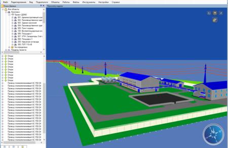 3D Модель ЛЭП в среде CADLib Модель и Архив