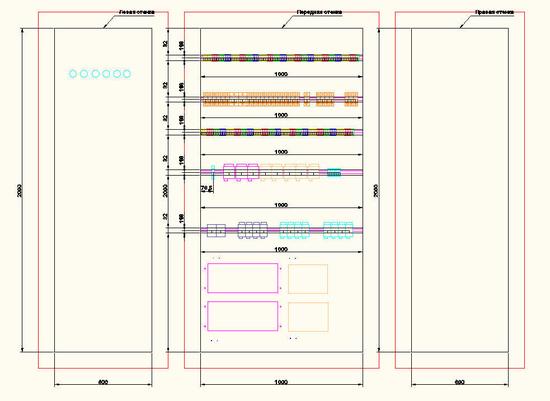 Общие виды панелей щита в Model Studio CS Компоновщик щитов