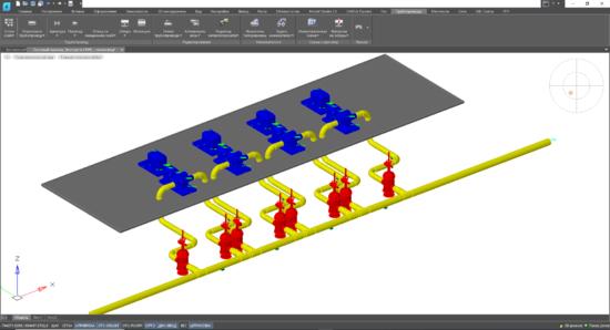 Модель в Model Studio CS Трубопроводы для экспорта в CPIPE