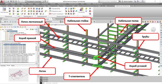 Раздел базы данных «Кабельные конструкции»